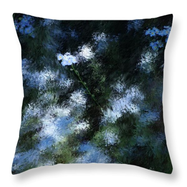 FORGET Me Not Throw Pillow by David Lane