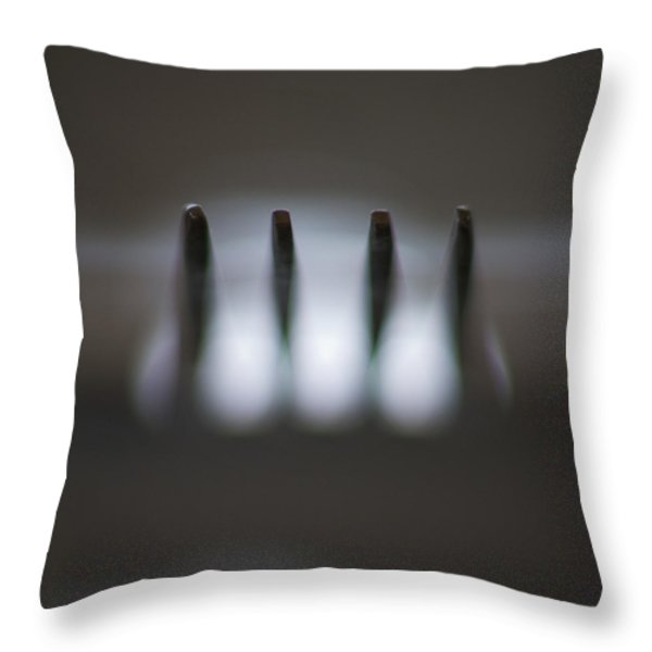 Fork Throw Pillow by Stelios Kleanthous