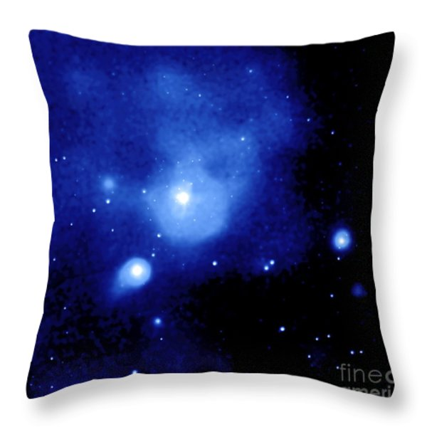 Fornax Galaxy Cluster Throw Pillow by NASA / Science Source