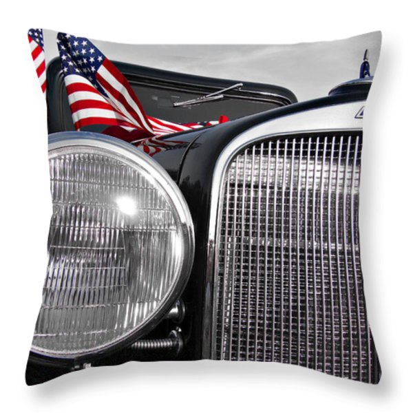 Fourth Of July-chevvy  Throw Pillow by Douglas Barnard