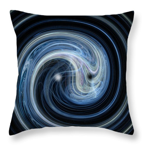 Fractal Yin And Yang Throw Pillow by Nicholas Burningham