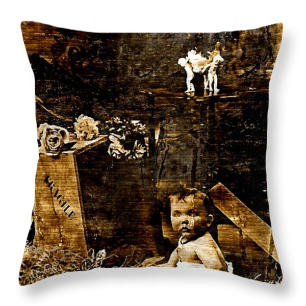 Fragile Delivery Throw Pillow by Tisha McGee