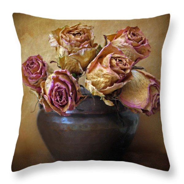 Fragile Rose Throw Pillow by Jessica Jenney