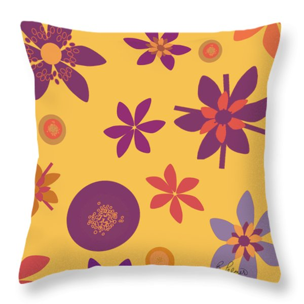 Fragrant Folly Orange Throw Pillow by Ruth Palmer