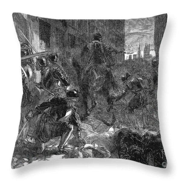 France: Massacre, 1572 Throw Pillow by Granger