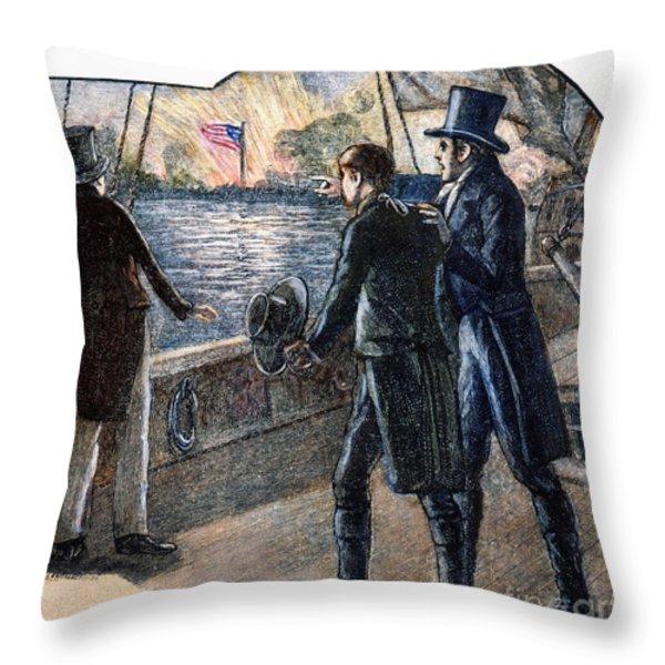 Francis Scott Key, 1814 Throw Pillow by Granger