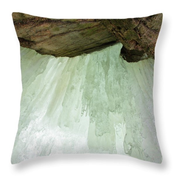 Franconia Notch State Park White Mountains Nh - Flume Gorge Throw Pillow by Erin Paul Donovan