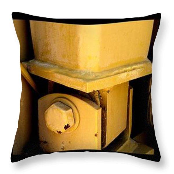 FRANKENSTEIN Throw Pillow by Marlene Burns