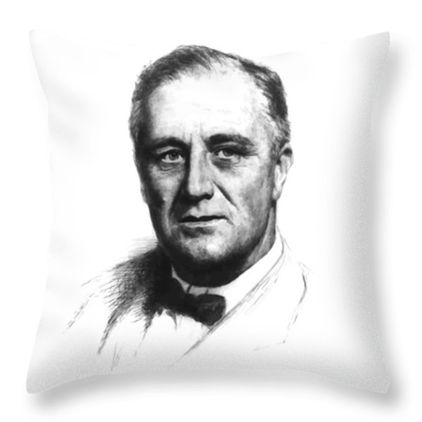Franklin Roosevelt Throw Pillow by War Is Hell Store