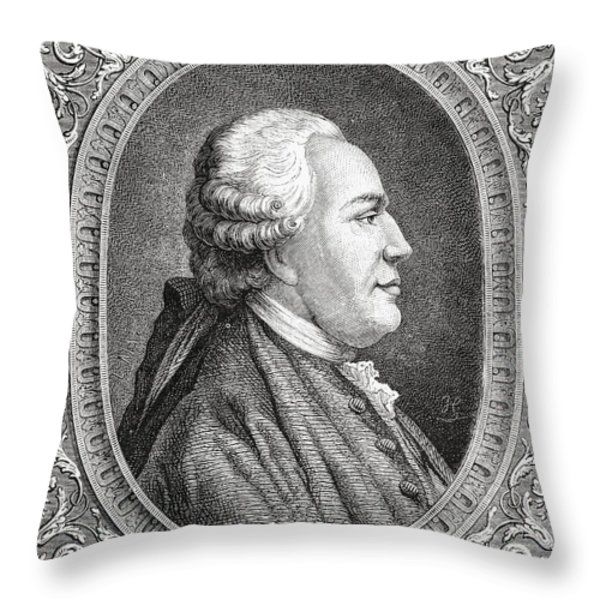 Franz Anton Mesmer, 1734-1815. Viennese Throw Pillow by Ken Welsh