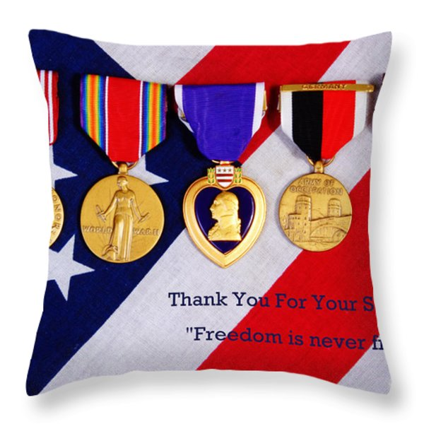 Freedom is Never Free Throw Pillow by James BO  Insogna
