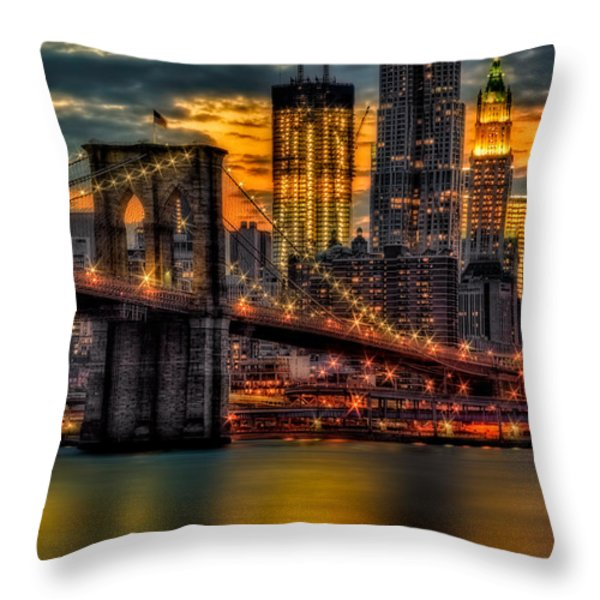 Freedom Rising Throw Pillow by Susan Candelario