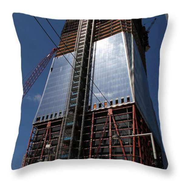 Freedom Tower 5 Throw Pillow by Andrew Fare