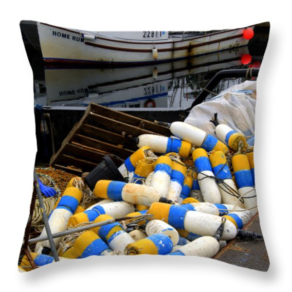 French Creek Trawlers Throw Pillow by Bob Christopher