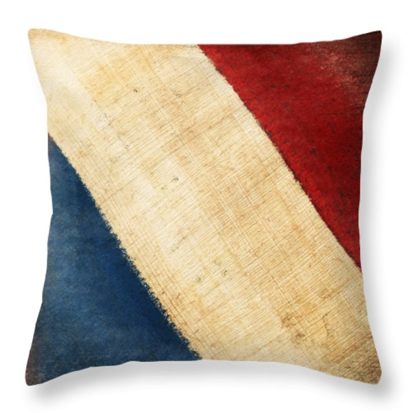 French Flag Throw Pillow by Setsiri Silapasuwanchai