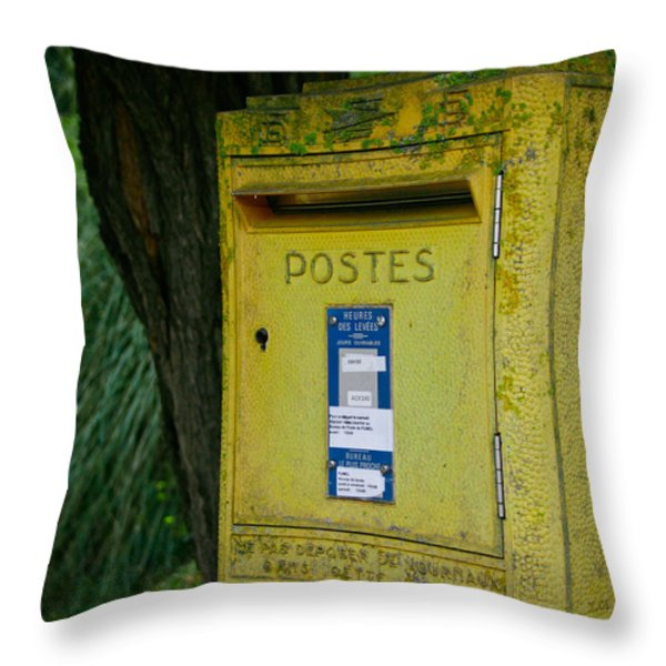 French Mailbox Throw Pillow by Nomad Art And  Design