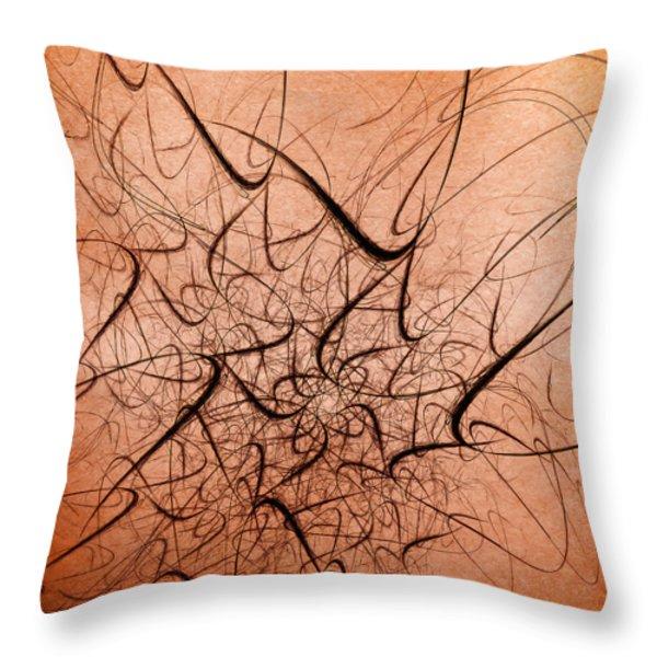 Frenzy Throw Pillow by Scott Norris