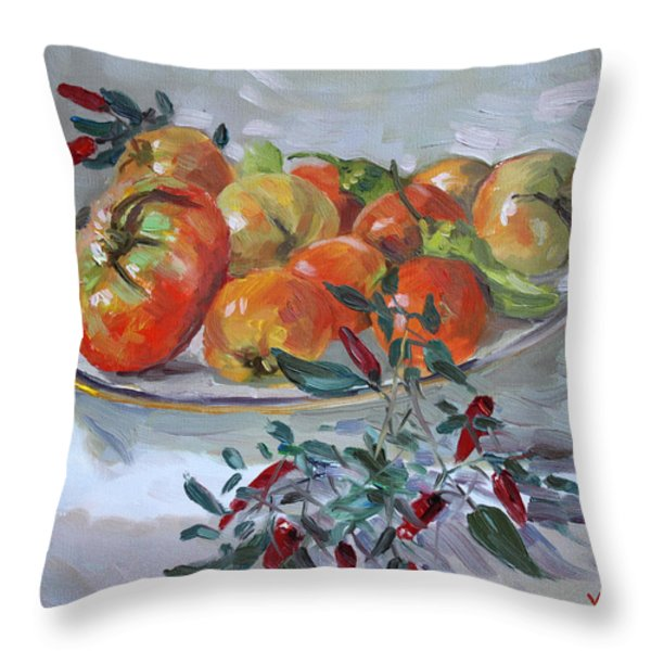 Fresh From The Garden Throw Pillow by Ylli Haruni