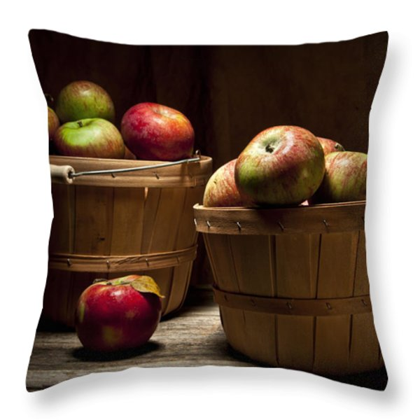 Fresh From the Orchard III Throw Pillow by Tom Mc Nemar