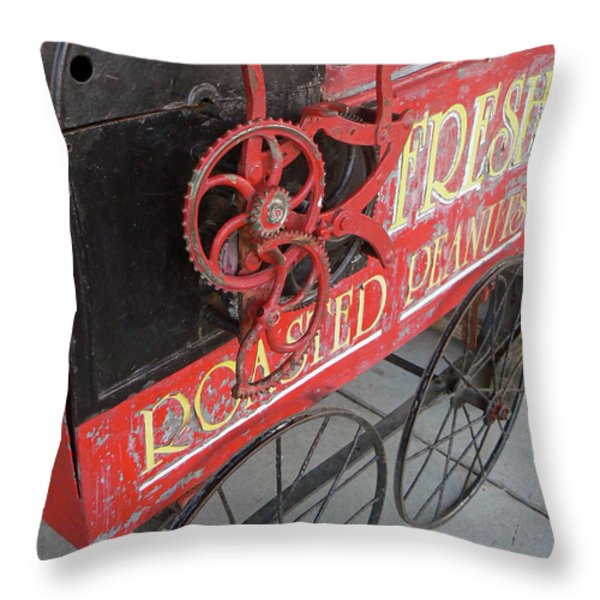 Fresh Roasted Peanuts Throw Pillow by Pamela Patch
