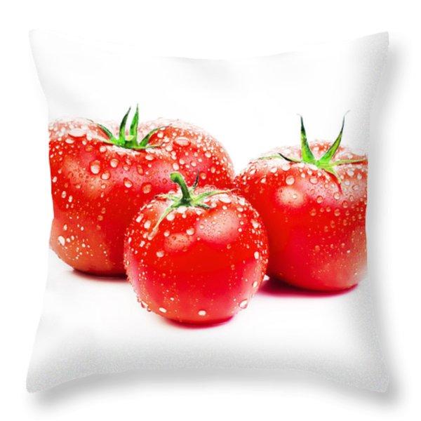 Fresh Tomato Throw Pillow by Setsiri Silapasuwanchai