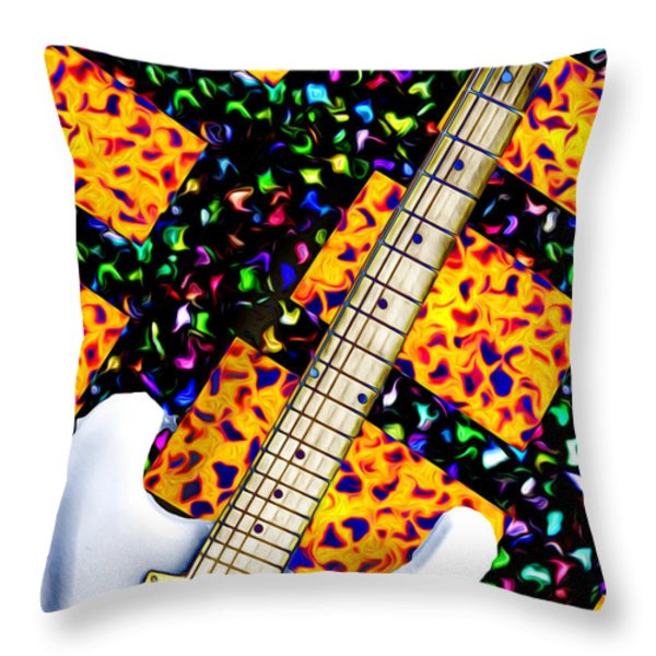 Frets Throw Pillow by Bill Cannon