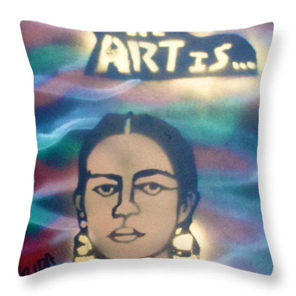 Frida Kahlo Throw Pillow by Tony B Conscious