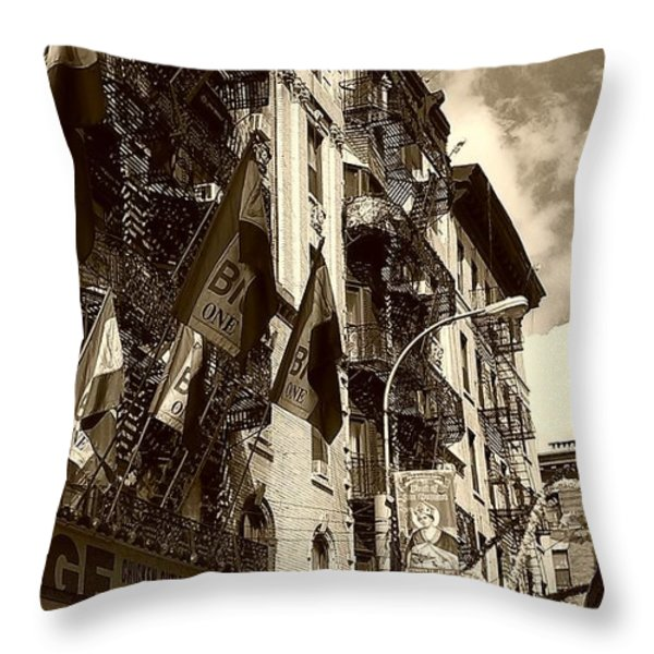 Fried Calamari Anyone Throw Pillow by Catie Canetti