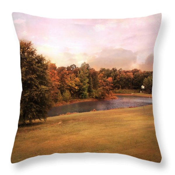 Friendship Pond Throw Pillow by Jai Johnson