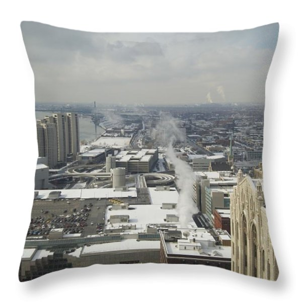 From Atop The Guardian 1758 Throw Pillow by Michael Peychich