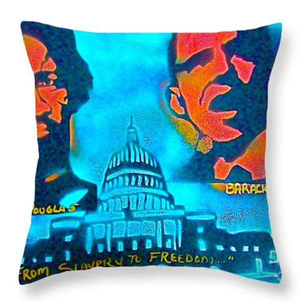 From Slavery To Freedom Throw Pillow by Tony B Conscious