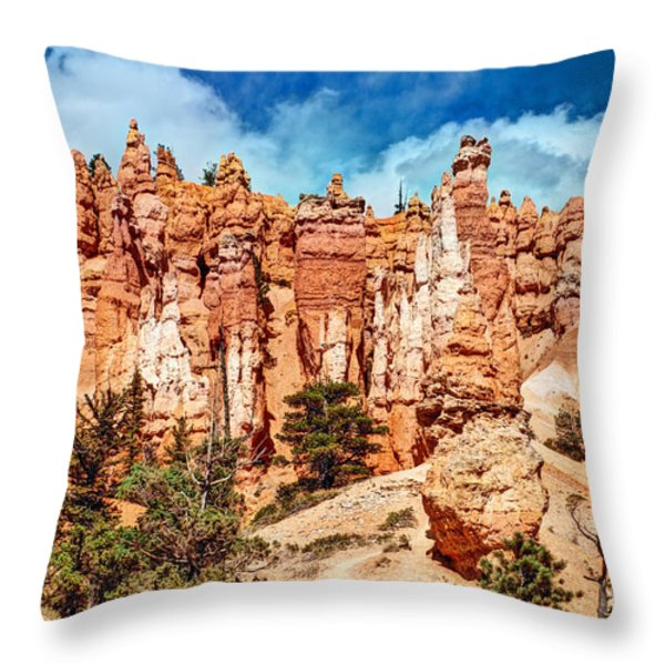From the Bottom Up Throw Pillow by Bob and Nancy Kendrick