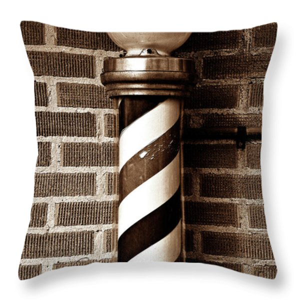 From The Past - Sepia Throw Pillow by Christopher Holmes