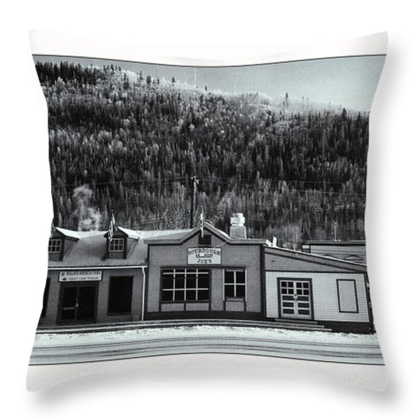 Front Street Throw Pillow by Priska Wettstein