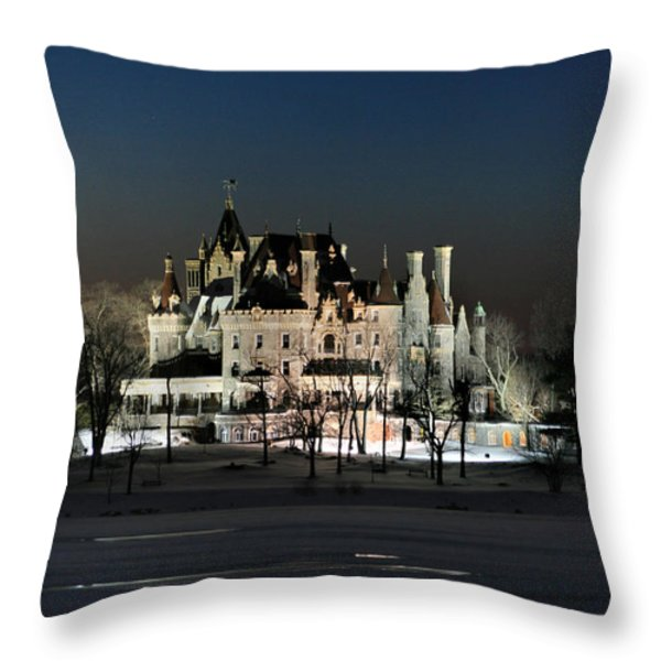 Frozen Boldt Castle Throw Pillow by Lori Deiter