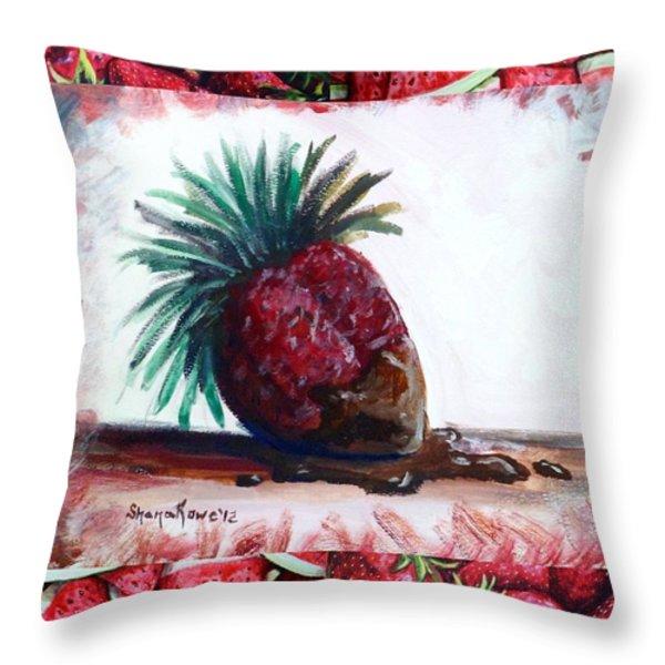 Fruit Fusion Throw Pillow by Shana Rowe Jackson