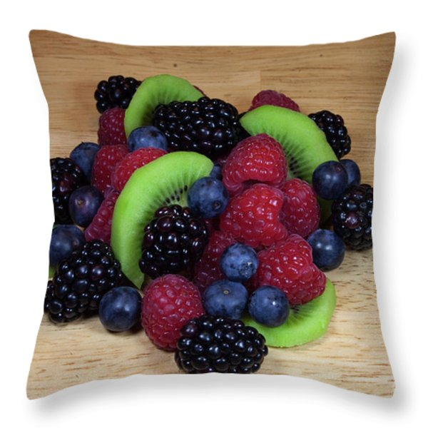 Fruit Mixture 2 Throw Pillow by Michael Waters