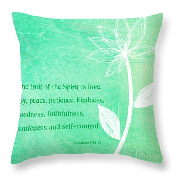 Fruit Of The Spirit Throw Pillow by Linda Woods