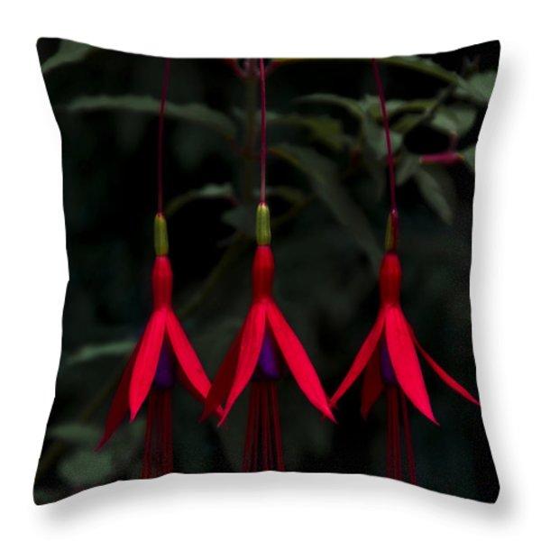 Fuchsia Bloom Throw Pillow by Svetlana Sewell