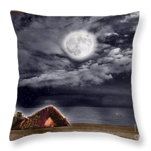 Full Moon Beauty Throw Pillow by Leanne M Williams