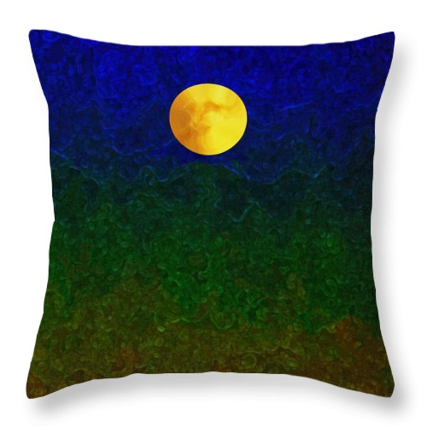 Full Moon Throw Pillow by Dale   Ford