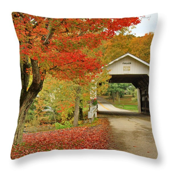Fuller Bridge Throw Pillow by Deborah Benoit