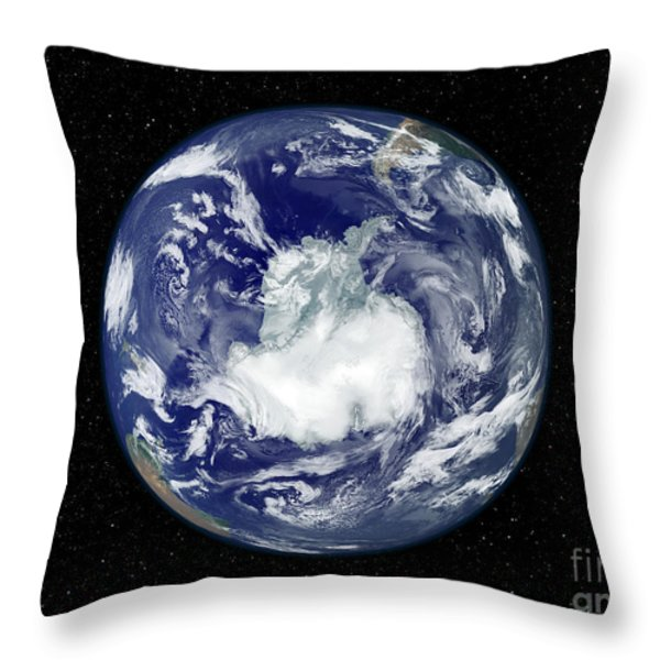 Fully Lit Full Disk Image Centered Throw Pillow by Stocktrek Images