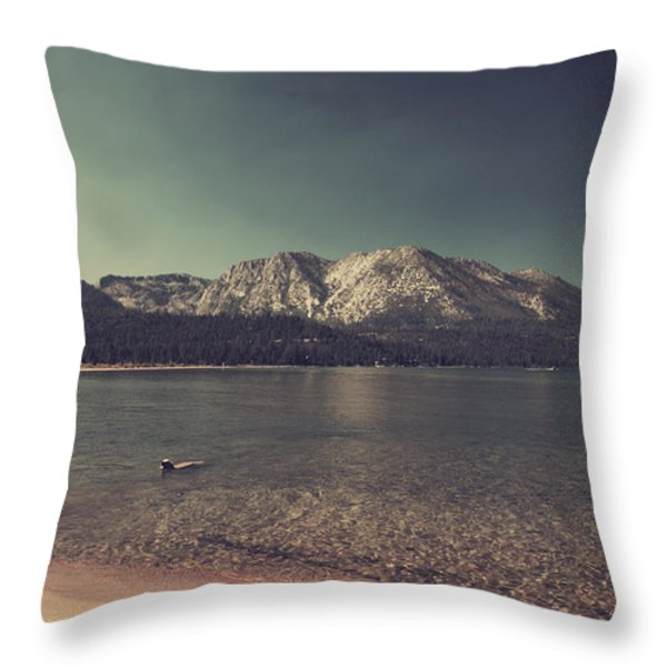 Fun At The Lake Throw Pillow by Laurie Search