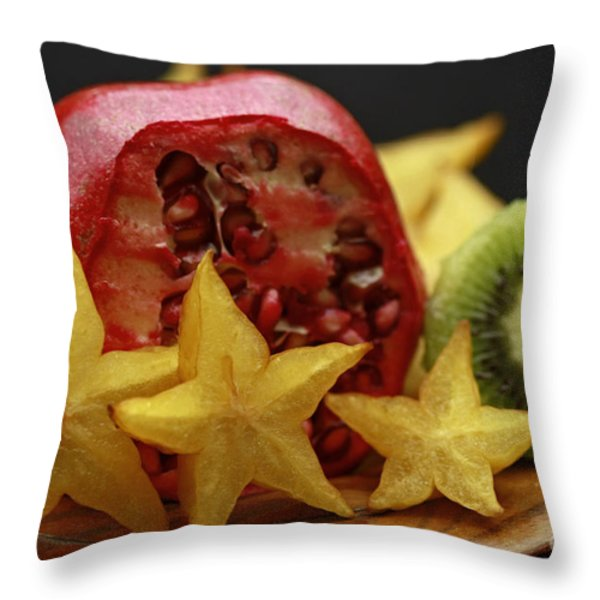 Fun With Fruit Throw Pillow by Inspired Nature Photography By Shelley Myke