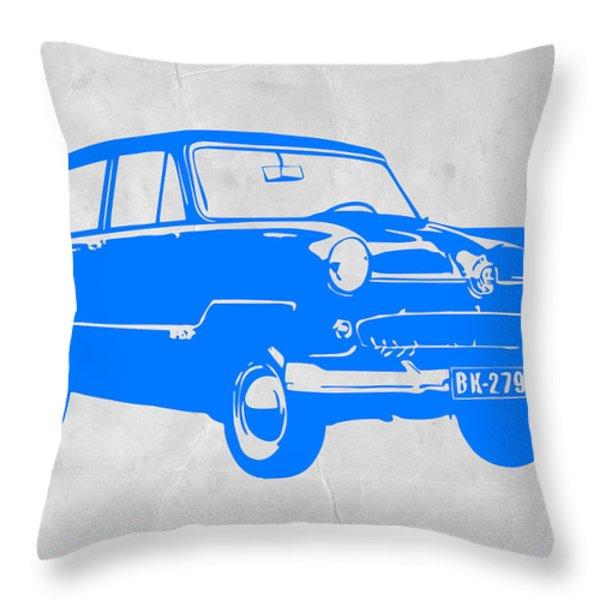 Funny Car Throw Pillow by Naxart Studio