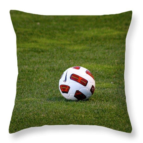 Futbol Throw Pillow by Laddie Halupa