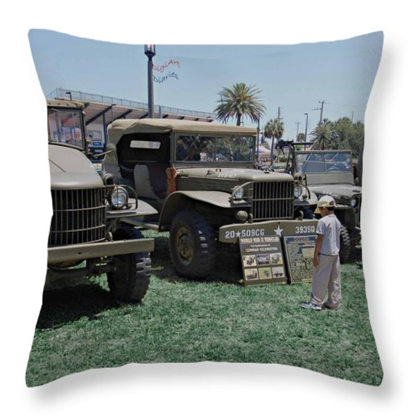 Future Soldier Throw Pillow by DigiArt Diaries by Vicky B Fuller
