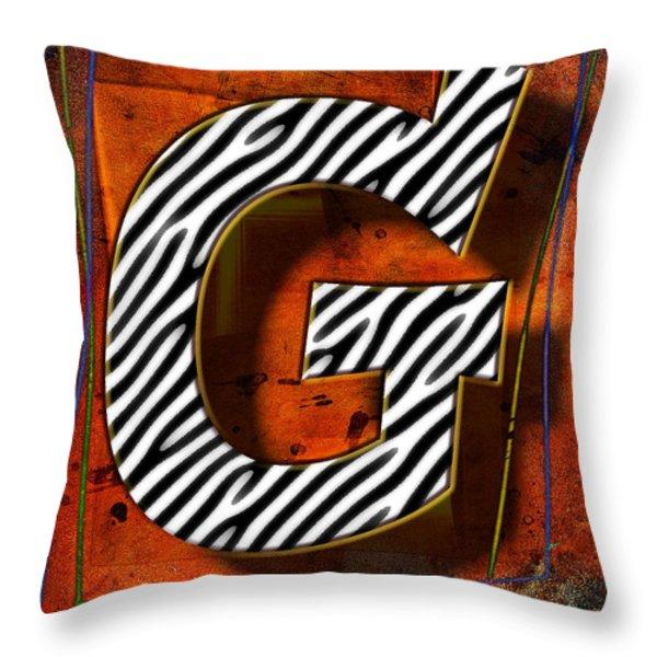 G Throw Pillow by Mauro Celotti