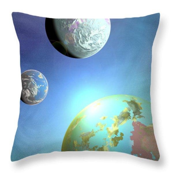 Galaxy 2 Throw Pillow by John Keaton